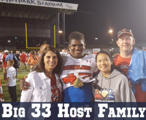Become a Big 33 Host Family!